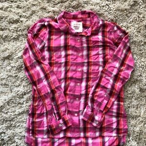 SO Tops - Flannel button down shirt with pocket